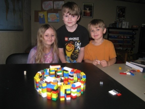 proud builders of Lego Stonehenge