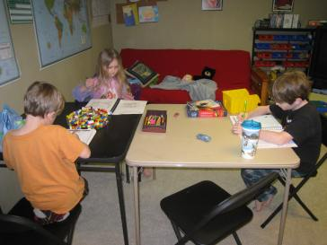 working in their journals
