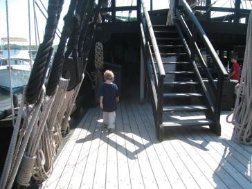 Middle Boy exploring