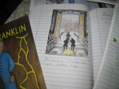Benjamin Franklin notebook page