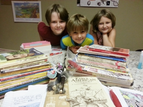 my crew with their favorite books