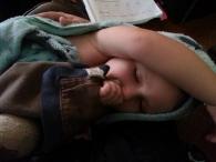Littlest fell asleep in my lap after a bath