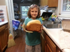 Sparkles first loaf of bread