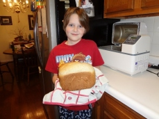 Oldest made his first loaf of bread