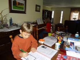 piano practice and school work