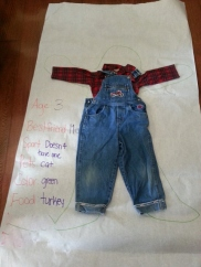 Littlest's scarecrow from preschool