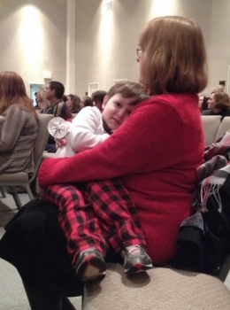 at Christmas Eve candlelight service