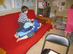 toddler attack during school time