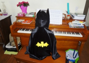 Batman at the keys