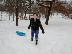 Oldest with sled