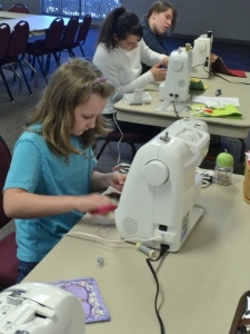 Sparkles in sewing class