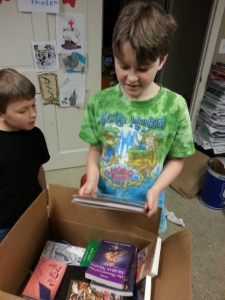 Box Day!! Always a happy day in a book loving homeschool!