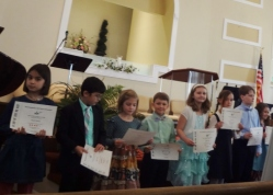 receiving their certificates