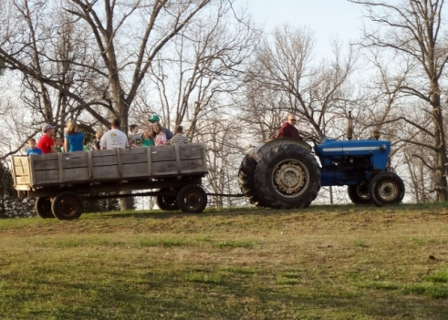 hayride at birthday party