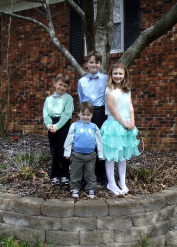 my sweet crew on Easter Sunday