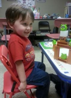 Littlest's idea of schooling...