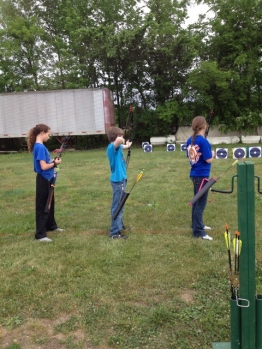 Oldest at archery practice
