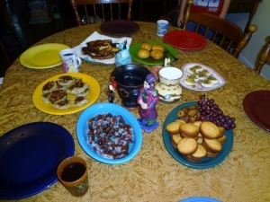 ancient foods table spread