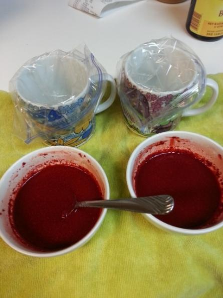 dye is mixed