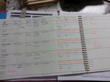my planner in progress