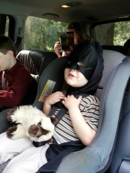 Littlest went to church as Batman today