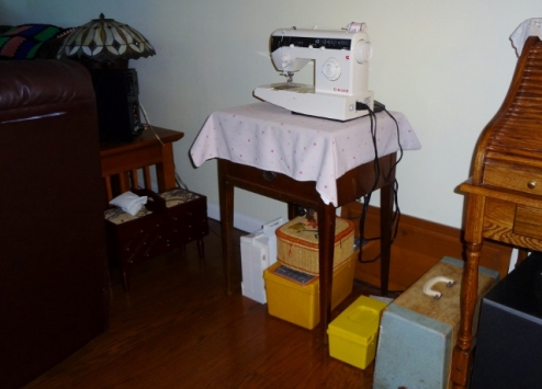 sewing nook