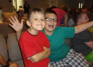 Middle Boy and friend at VBS