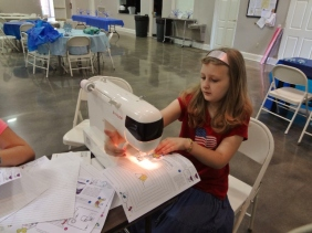 Sparkles at sewing class