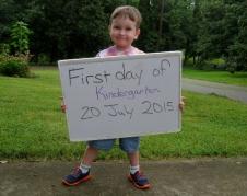 first official day of Kindergarten