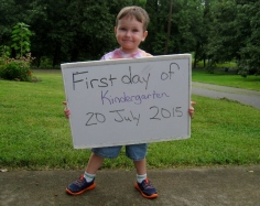 first official day of Kindergarten