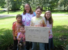 2015-16 school year in our tie-dye shirts