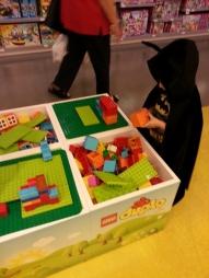 Batman at Lego store