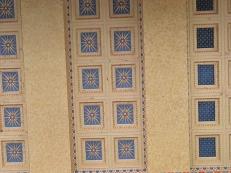 Parthenon mosaic tile detail outside ceiling