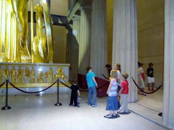 crew examining Athena