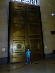 large doors at Parthenon