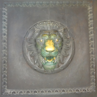 Lucky Lion Door at Parthenon