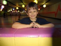 Middle Boy at skating rink