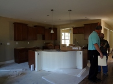 the kitchen in the new house
