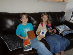 Oldest with his birthday books