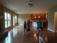 from family room to kitchen