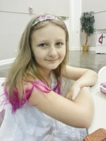 Sparkles with pink tips at church this morning