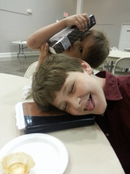 the boys being silly