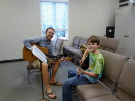 Oldest's last guitar lesson
