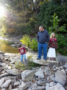 along the banks of the Elkhorn Creek