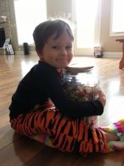 Littlest loves the candy jar!
