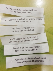 our fortunes: husband, mine, Oldest, Sparkles, Middle Boy, Littlest