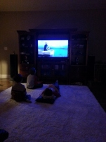 Elf movie night...our first Christmas movie this year