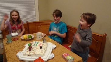 happy he blew out all of his candles