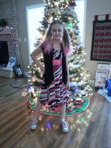 Sparkles and Christmas outfit...because it was too warm for Christmas sweaters