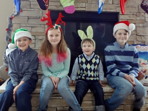who wears bunny ears for Christmas?
